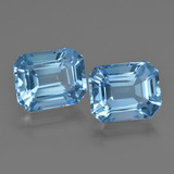 thumb image of 7.9ct Octagon Facet Swiss Blue Topaz (ID: 419282)