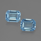 thumb image of 6.9ct Octagon Facet Swiss Blue Topaz (ID: 419326)