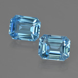 thumb image of 7.5ct Octagon Facet Swiss Blue Topaz (ID: 419329)