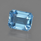 thumb image of 3.2ct Octagon Facet Swiss Blue Topaz (ID: 419372)