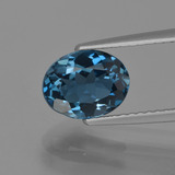 thumb image of 2.2ct Oval Facet London Blue Topaz (ID: 419393)
