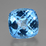 thumb image of 55ct Cushion Checkerboard Swiss Blue Topaz (ID: 419459)