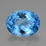 thumb image of 48.9ct Oval Checkerboard Swiss Blue Topaz (ID: 419462)