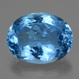 thumb image of 50.7ct Oval Facet Swiss Blue Topaz (ID: 419467)