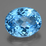 thumb image of 51.3ct Oval Checkerboard Swiss Blue Topaz (ID: 419468)