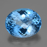thumb image of 67.1ct Oval Checkerboard Swiss Blue Topaz (ID: 419469)