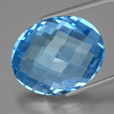 thumb image of 51ct Oval Checkerboard (double sided) Swiss Blue Topaz (ID: 419475)