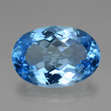 thumb image of 46.1ct Oval Facet Swiss Blue Topaz (ID: 419477)