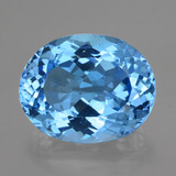 thumb image of 36.5ct Oval Facet Swiss Blue Topaz (ID: 419483)