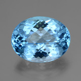 thumb image of 35.2ct Oval Checkerboard Swiss Blue Topaz (ID: 419646)