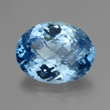 thumb image of 33.3ct Oval Checkerboard Swiss Blue Topaz (ID: 419648)