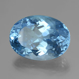 38.26 ct Oval Facet Swiss Blue Topaz Gem 24.00 mm x 17.6 mm (Photo B)