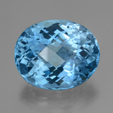 thumb image of 46.1ct Oval Checkerboard Swiss Blue Topaz (ID: 419655)