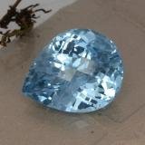thumb image of 32.5ct Pear Checkerboard Swiss Blue Topaz (ID: 419971)