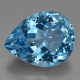 thumb image of 35.6ct Pear Facet Swiss Blue Topaz (ID: 419974)