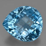 thumb image of 42.7ct Pear Checkerboard Swiss Blue Topaz (ID: 419978)