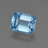 thumb image of 3ct Octagon Facet Swiss Blue Topaz (ID: 419993)