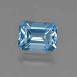 thumb image of 2.7ct Octagon Facet Swiss Blue Topaz (ID: 420003)