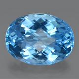 thumb image of 49.4ct Oval Checkerboard Swiss Blue Topaz (ID: 420053)