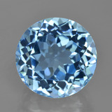 thumb image of 11.7ct Round Facet Swiss Blue Topaz (ID: 420185)
