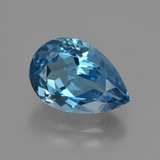 thumb image of 3.7ct Pear Facet London Blue Topaz (ID: 421086)