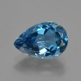 thumb image of 3.5ct Pear Facet London Blue Topaz (ID: 421089)