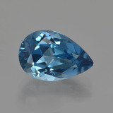 thumb image of 3.8ct Pear Facet London Blue Topaz (ID: 421110)