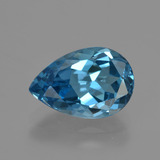 thumb image of 3.4ct Pear Facet London Blue Topaz (ID: 421120)
