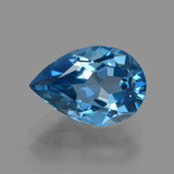 thumb image of 3.5ct Pear Facet London Blue Topaz (ID: 421123)