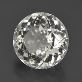 7.49 ct Round Facet Warm White Topaz Gem 11.75 mm  (Photo B)
