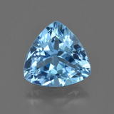 thumb image of 4.3ct Trillion Facet Swiss Blue Topaz (ID: 422647)