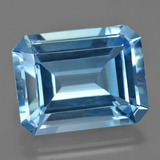 thumb image of 37.5ct Octagon Facet Swiss Blue Topaz (ID: 422655)