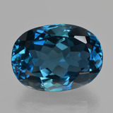 thumb image of 33ct Oval Facet London Blue Topaz (ID: 424882)