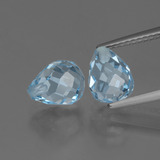 thumb image of 5ct Half-Drilled Briolette Sky Blue Topaz (ID: 426481)