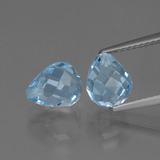 thumb image of 5ct Briolette with Hole Swiss Blue Topaz (ID: 426485)