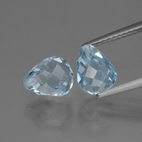 thumb image of 4.9ct Briolette with Hole Swiss Blue Topaz (ID: 426491)