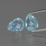 thumb image of 5ct Half-Drilled Briolette Sky Blue Topaz (ID: 426523)