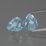 thumb image of 5.1ct Half-Drilled Briolette Sky Blue Topaz (ID: 426524)