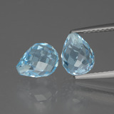 thumb image of 5ct Briolette with Hole Swiss Blue Topaz (ID: 426597)