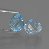 thumb image of 5.4ct Half-Drilled Briolette Sky Blue Topaz (ID: 426629)