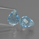thumb image of 5.1ct Half-Drilled Briolette Sky Blue Topaz (ID: 426632)