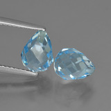 thumb image of 4.7ct Briolette with Hole Swiss Blue Topaz (ID: 426635)