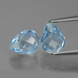 thumb image of 5.2ct Half-Drilled Briolette Sky Blue Topaz (ID: 426673)