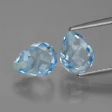 thumb image of 5ct Briolette with Hole Swiss Blue Topaz (ID: 426674)