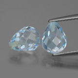 thumb image of 5.4ct Briolette with Hole Swiss Blue Topaz (ID: 426679)