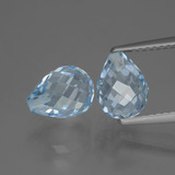 thumb image of 5.3ct Half-Drilled Briolette Sky Blue Topaz (ID: 426733)