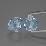 thumb image of 5.5ct Briolette with Hole Swiss Blue Topaz (ID: 426734)