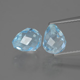thumb image of 5.2ct Half-Drilled Briolette Sky Blue Topaz (ID: 426811)
