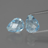 thumb image of 5.2ct Half-Drilled Briolette Sky Blue Topaz (ID: 426813)