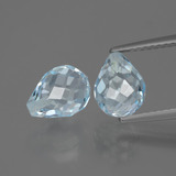 thumb image of 5.1ct Half-Drilled Briolette Sky Blue Topaz (ID: 426814)